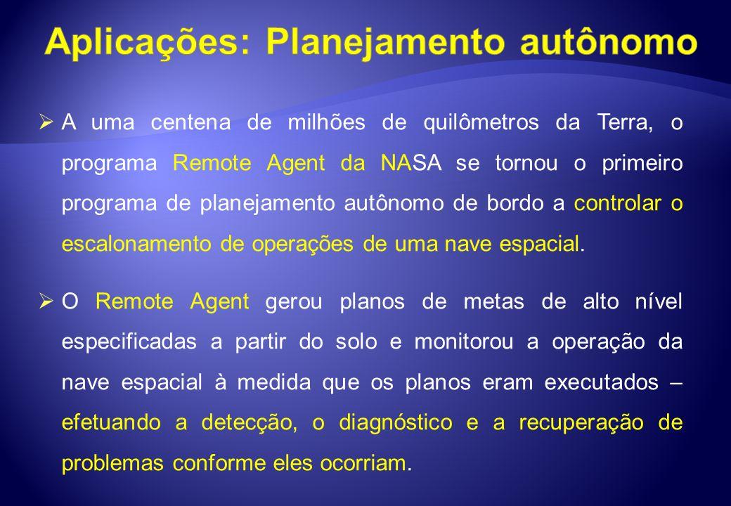 Aplicações: Planejamento autônomo