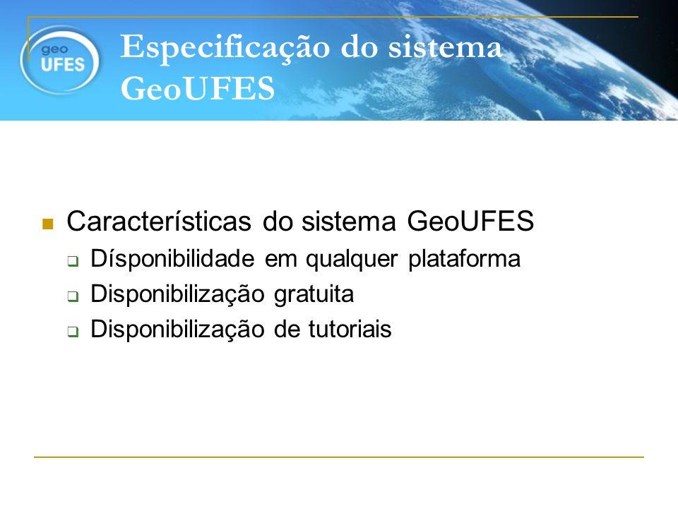 Especificação do sistema GeoUFES