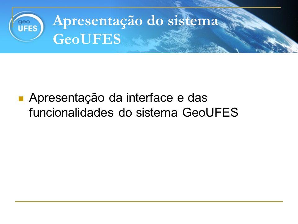 Apresentação do sistema GeoUFES