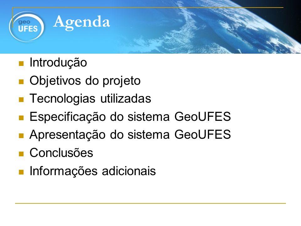 Agenda Introdução Objetivos do projeto Tecnologias utilizadas