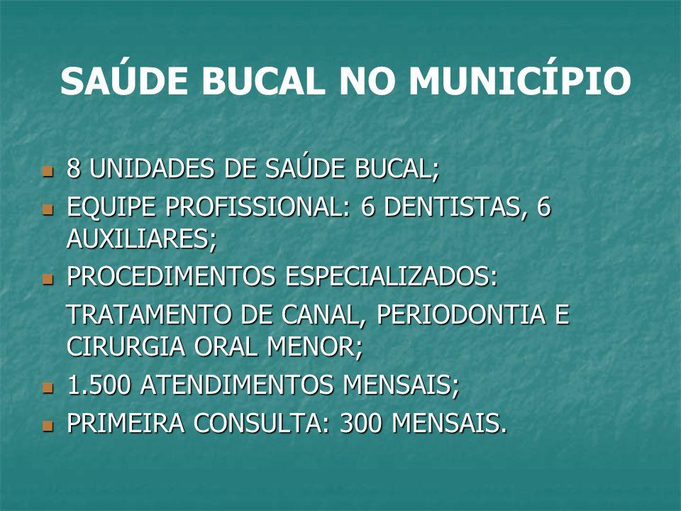 SAÚDE BUCAL NO MUNICÍPIO