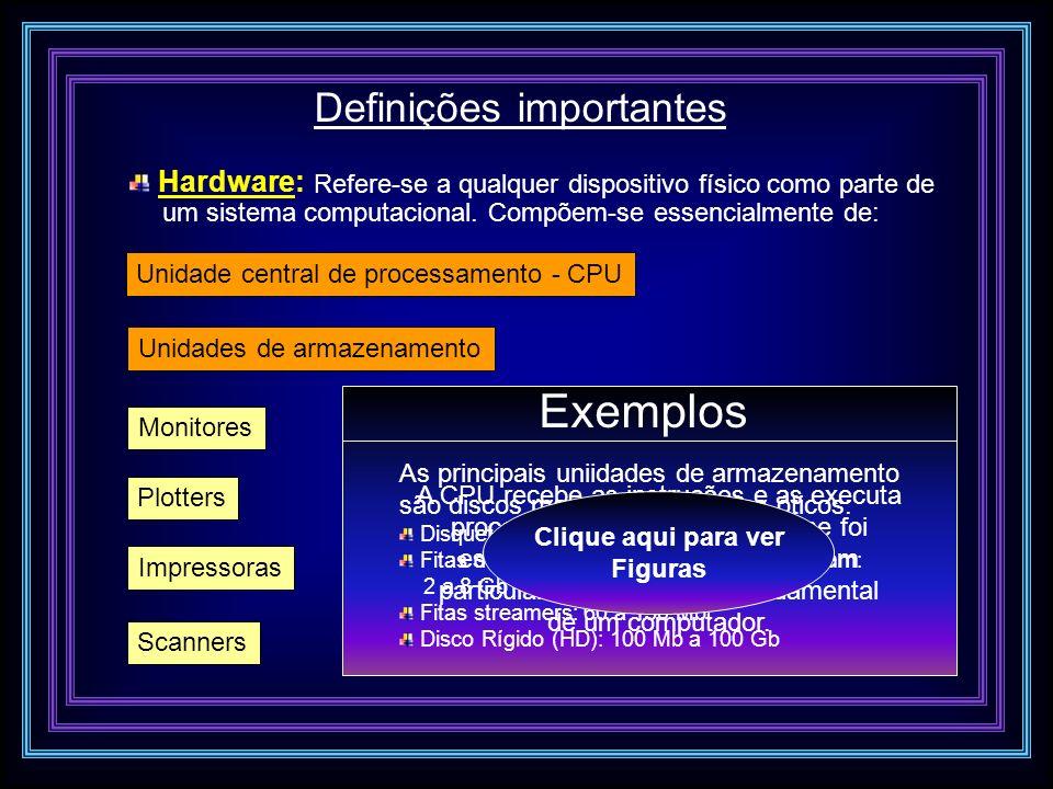 Exemplos Definições importantes Hardware: