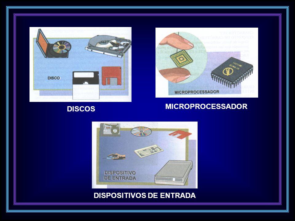 DISCOS MICROPROCESSADOR DISPOSITIVOS DE ENTRADA