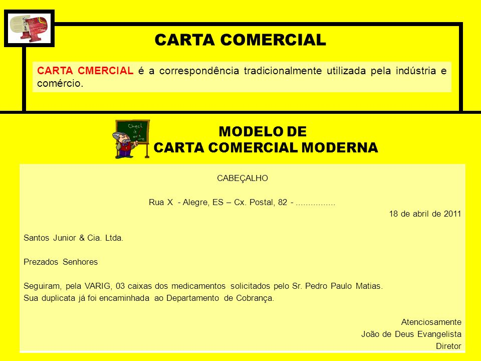CARTA COMERCIAL MODERNA