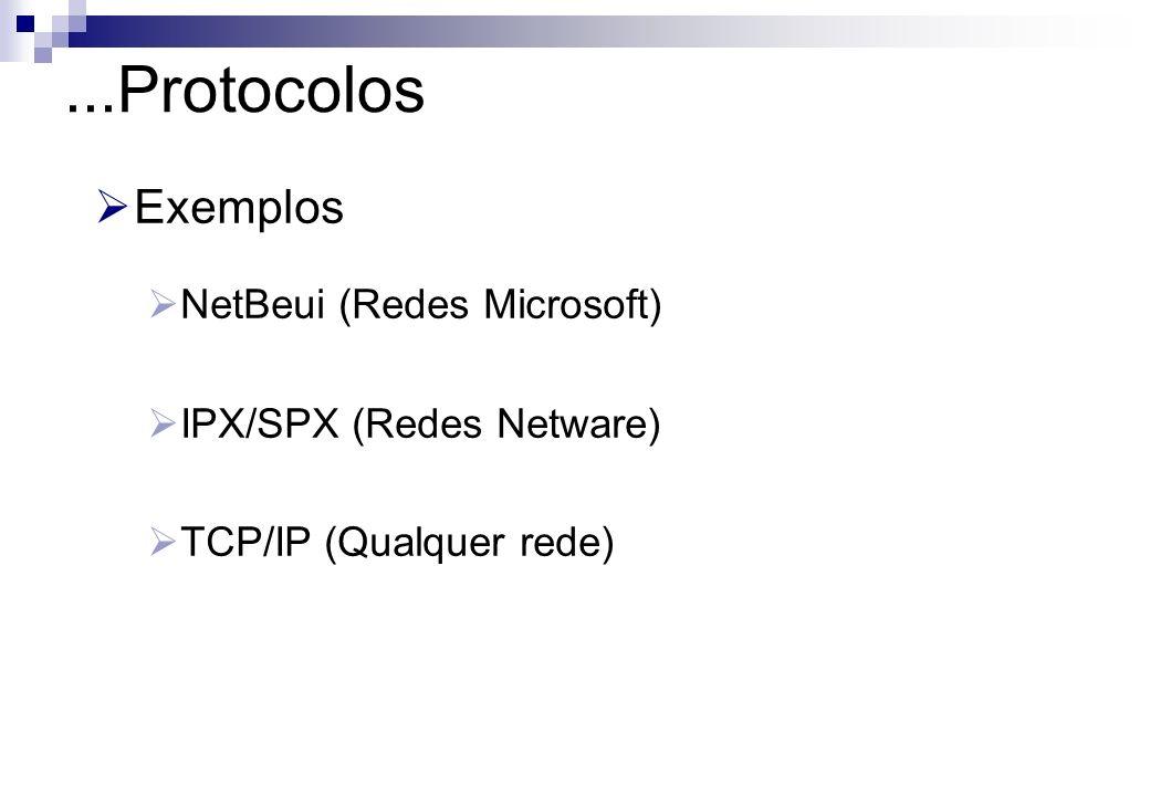 ...Protocolos Exemplos NetBeui (Redes Microsoft)