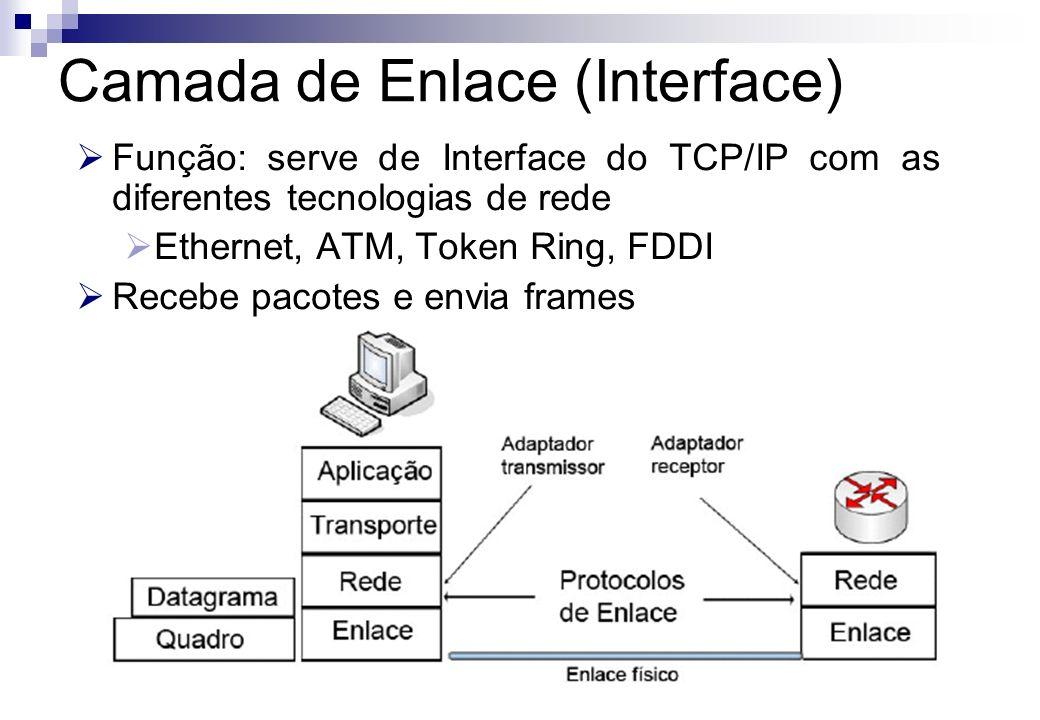 Camada de Enlace (Interface)
