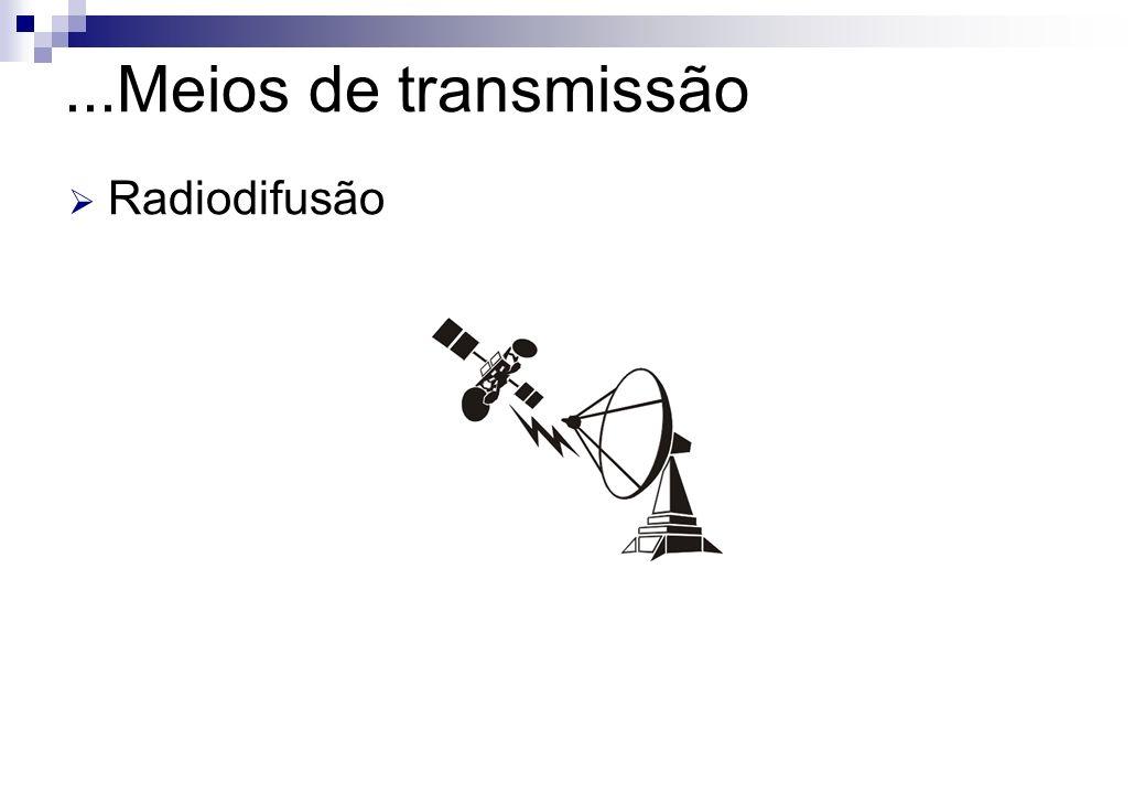 ...Meios de transmissão Radiodifusão