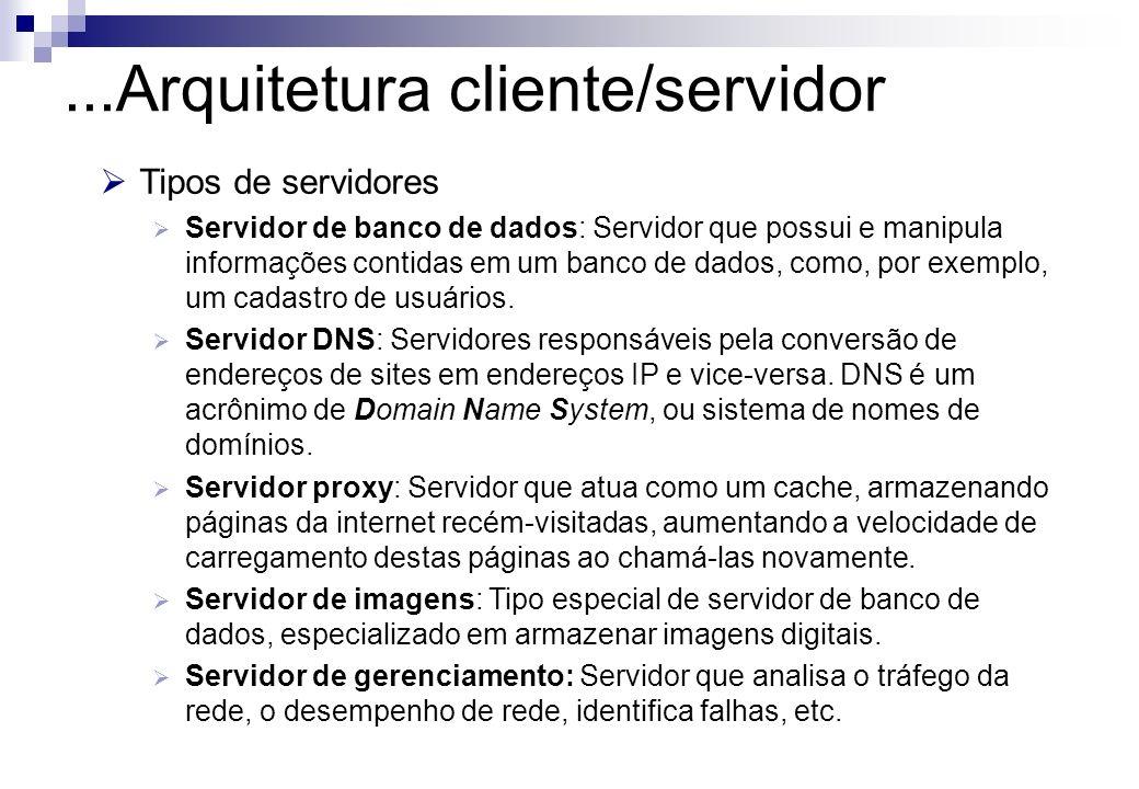 ...Arquitetura cliente/servidor