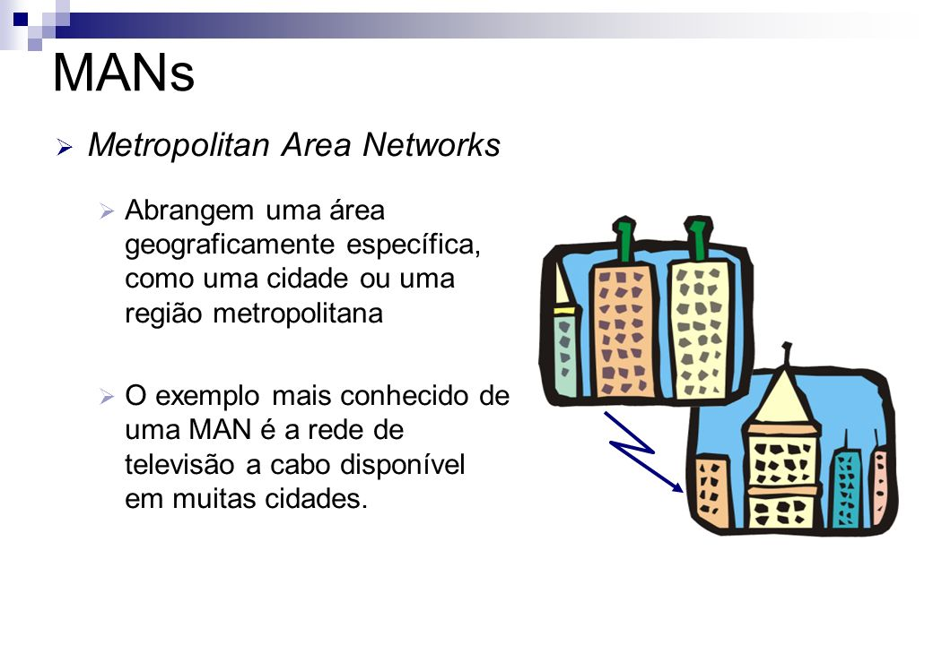 MANs Metropolitan Area Networks