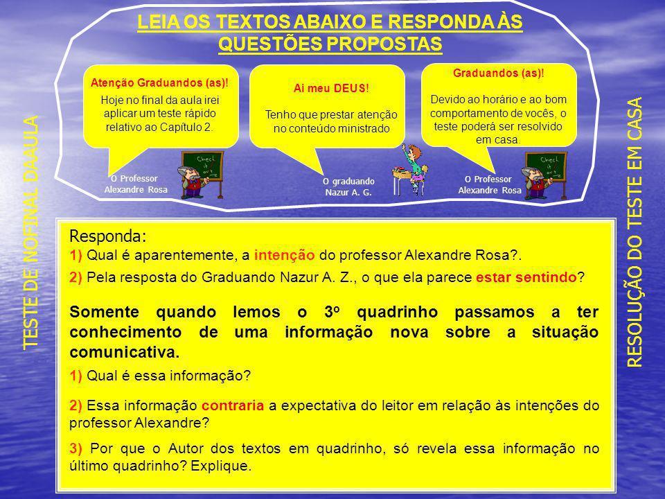 LEIA OS TEXTOS ABAIXO E RESPONDA ÀS