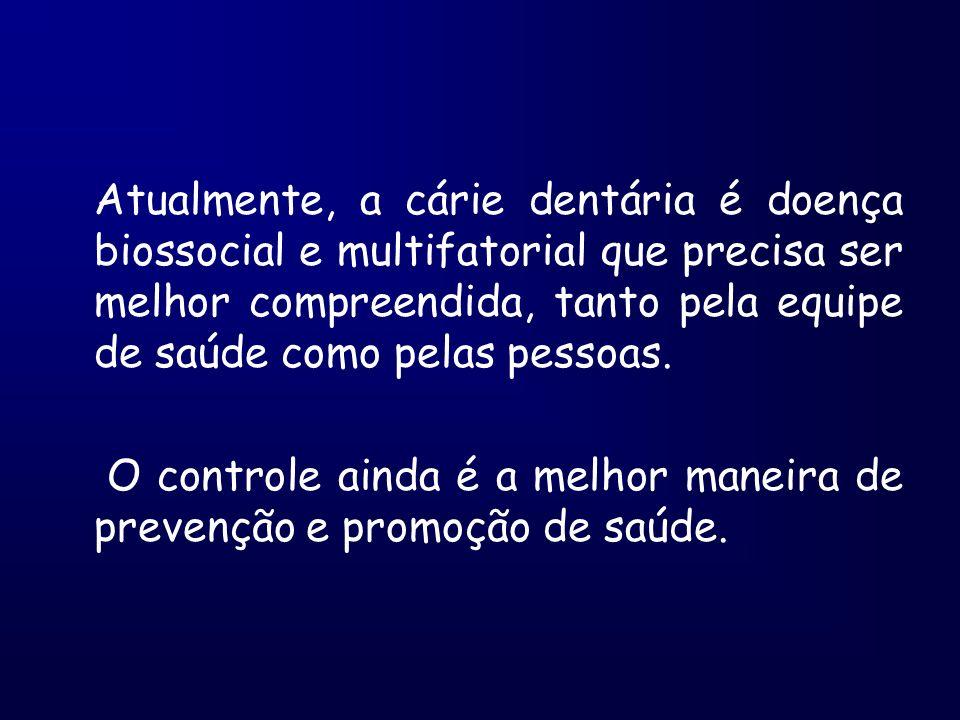 Atualmente, a cárie dentária é doença biossocial e multifatorial que precisa ser melhor compreendida, tanto pela equipe de saúde como pelas pessoas.