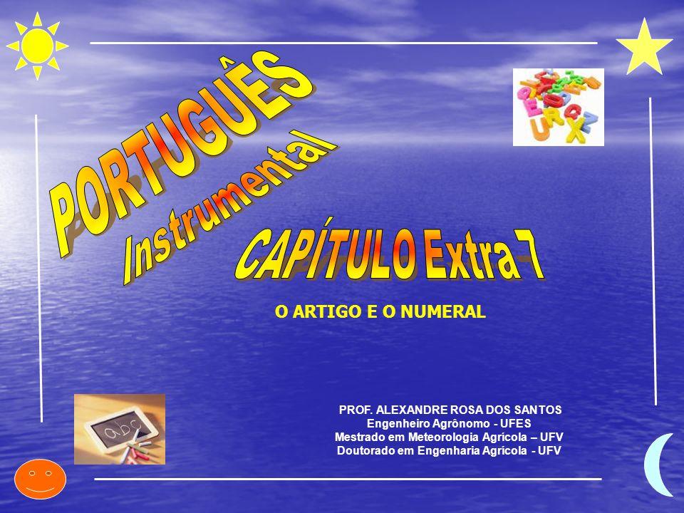 PORTUGUÊS Instrumental CAPÍTULO Extra 7 O ARTIGO E O NUMERAL