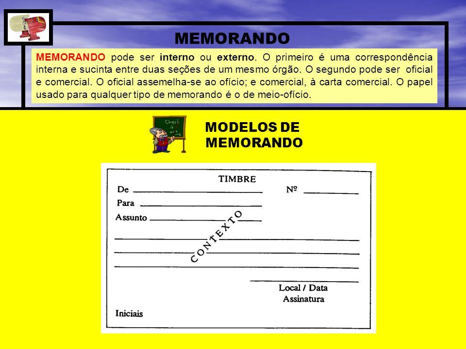 MEMORANDO MODELOS DE MEMORANDO