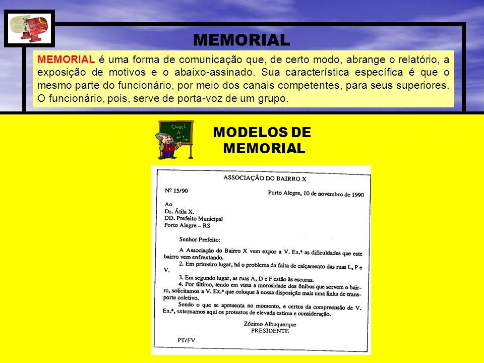 MEMORIAL MODELOS DE MEMORIAL