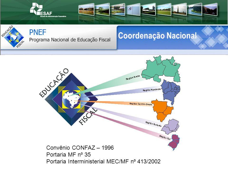 Coordenação Nacional Convênio CONFAZ – 1996 Portaria MF nº 35