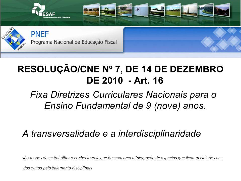 RESOLUÇÃO/CNE Nº 7, DE 14 DE DEZEMBRO DE 2010 - Art. 16