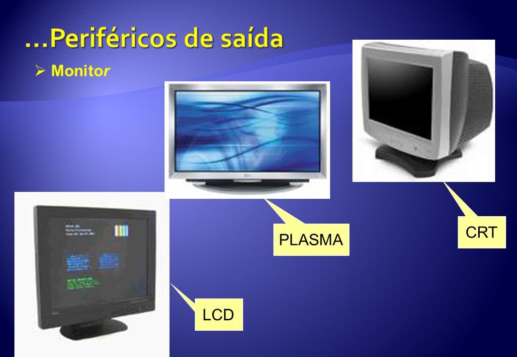 ...Periféricos de saída Monitor CRT PLASMA LCD