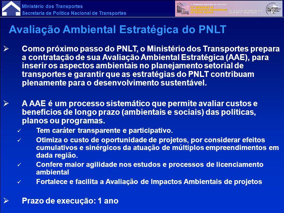 Avaliação Ambiental Estratégica do PNLT
