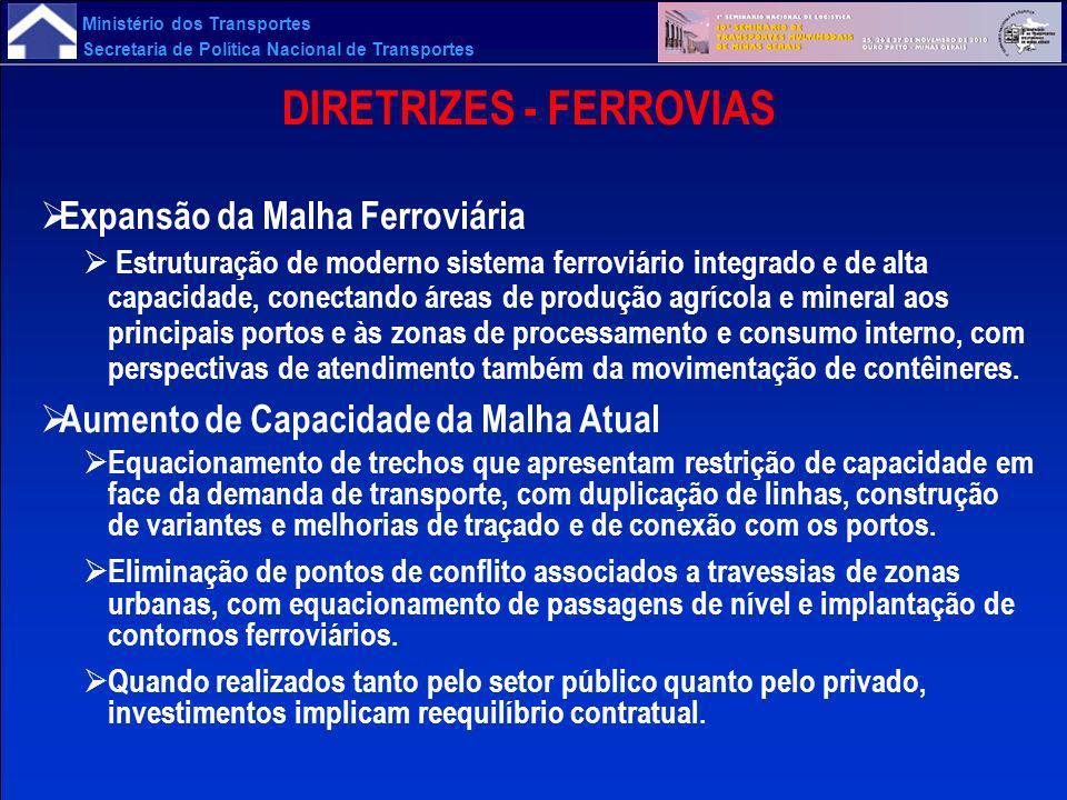 DIRETRIZES - FERROVIAS