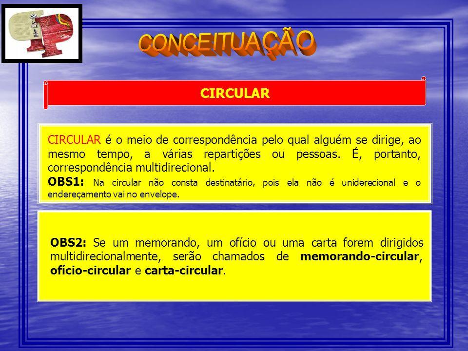 CONCEITUAÇÃO CIRCULAR.
