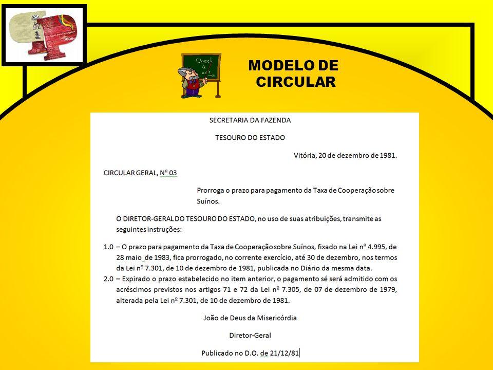 MODELO DE CIRCULAR