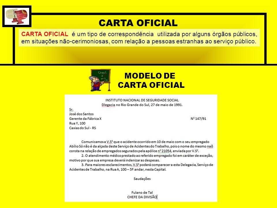 CARTA OFICIAL MODELO DE CARTA OFICIAL