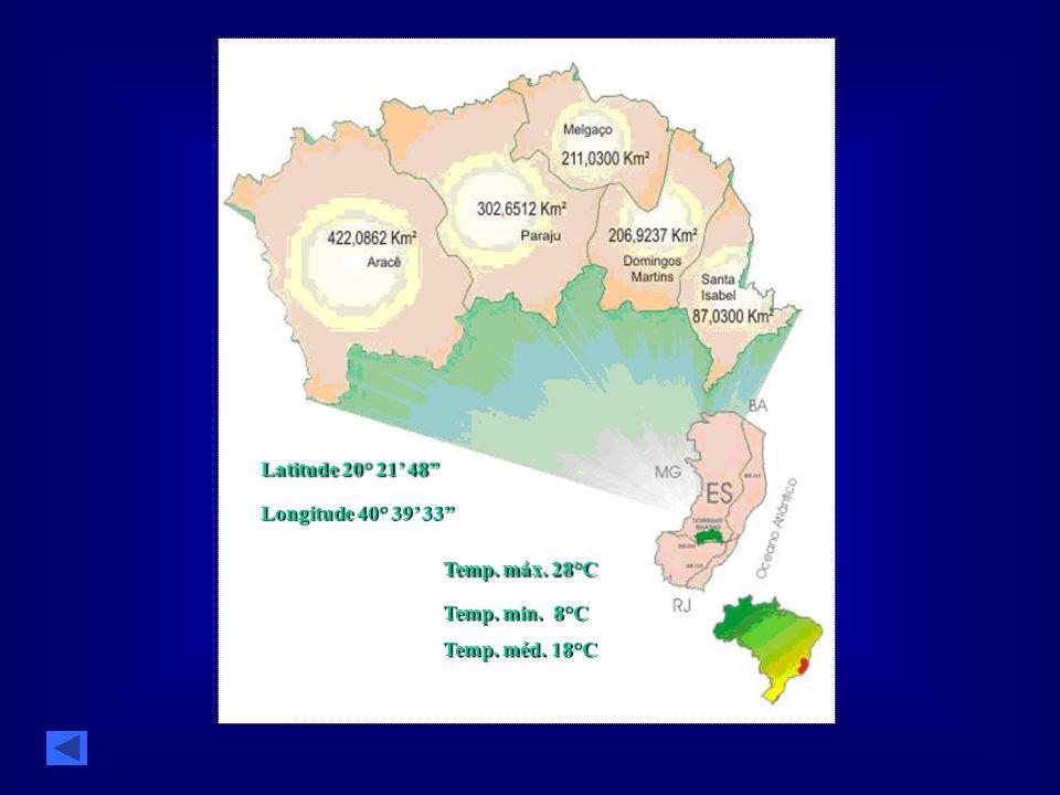 Latitude 20° 21' 48 Temp. máx. 28°C Longitude 40° 39' 33