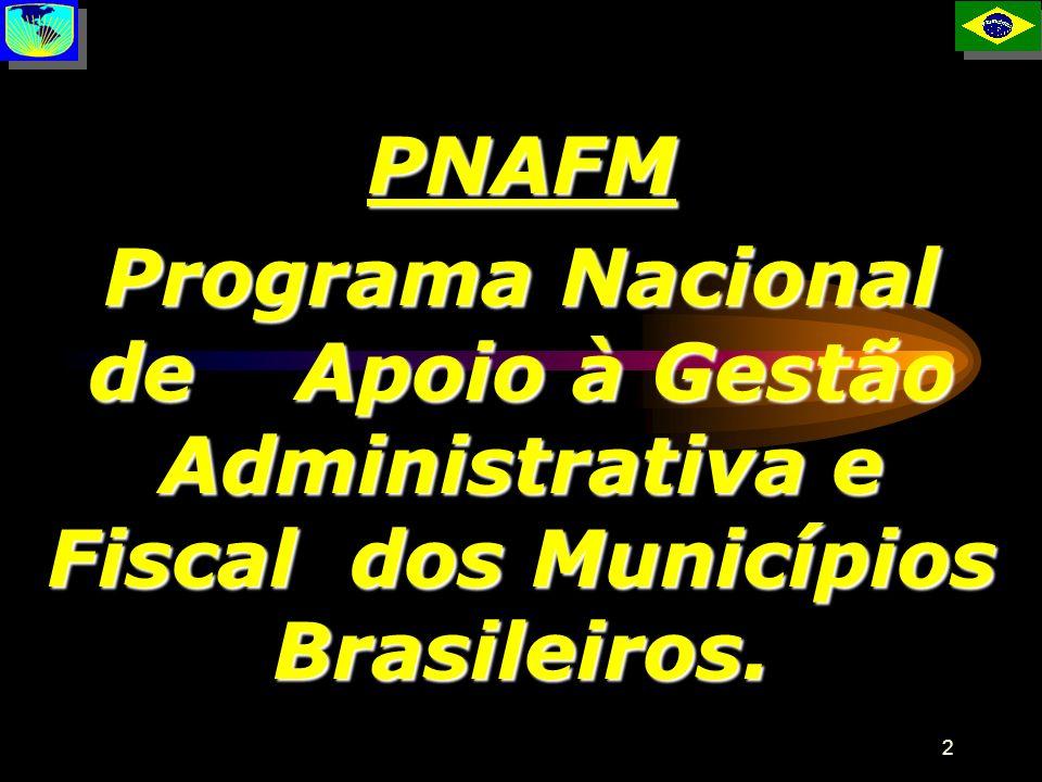 PNAFM Programa Nacional de Apoio à Gestão Administrativa e Fiscal dos Municípios Brasileiros. P
