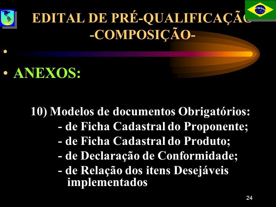 EDITAL DE PRÉ-QUALIFICAÇÃO -COMPOSIÇÃO-