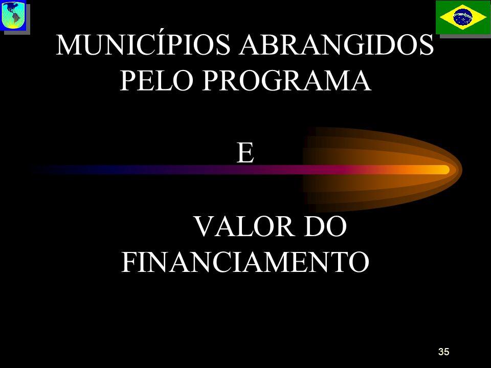 MUNICÍPIOS ABRANGIDOS PELO PROGRAMA E