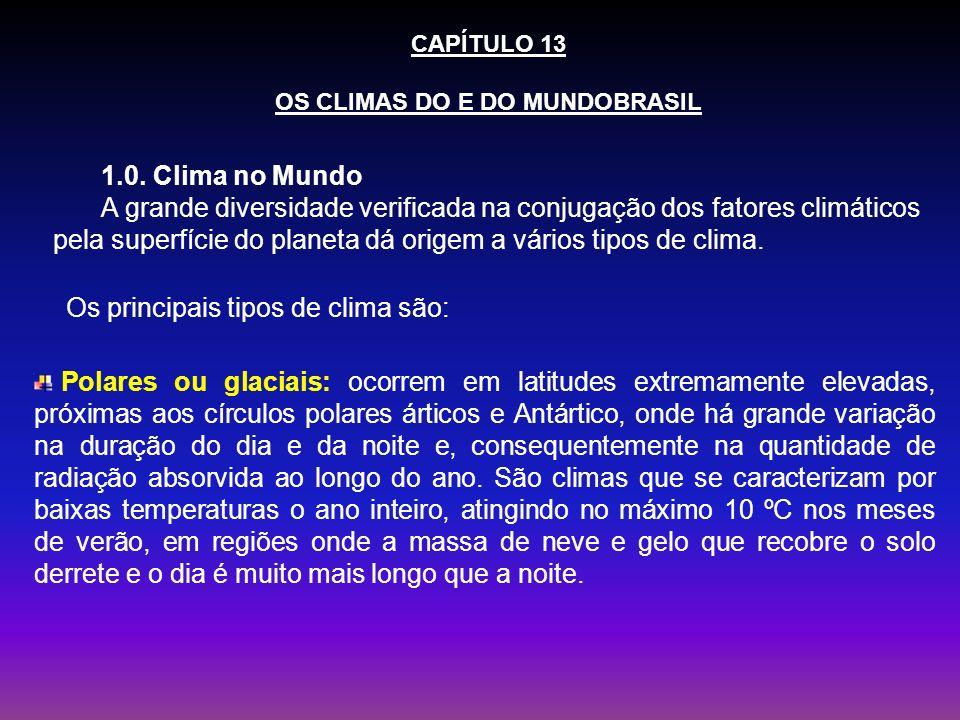 OS CLIMAS DO E DO MUNDOBRASIL