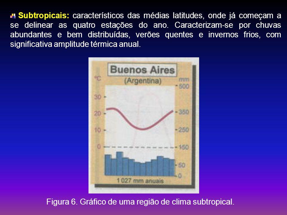 Figura 6. Gráfico de uma região de clima subtropical.