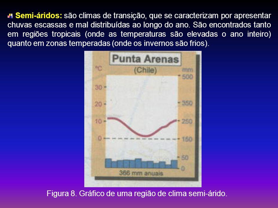 Figura 8. Gráfico de uma região de clima semi-árido.