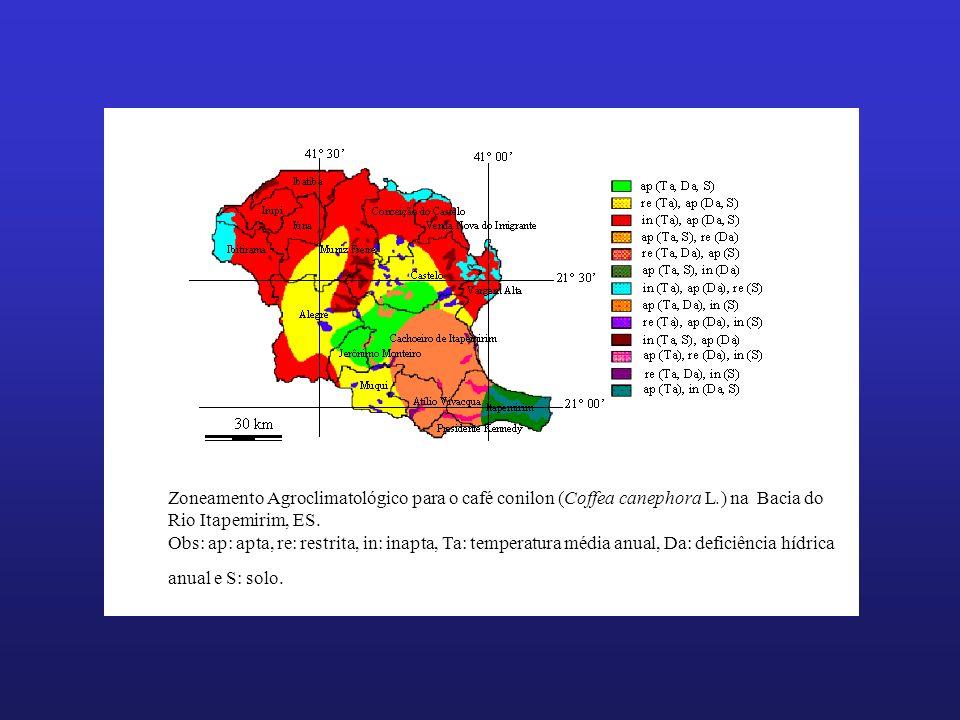 Zoneamento Agroclimatológico para o café conilon (Coffea canephora L