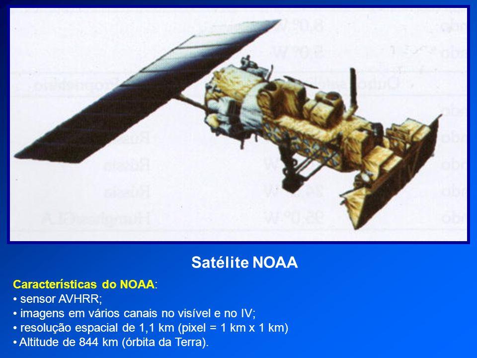 Satélite NOAA Características do NOAA: sensor AVHRR;