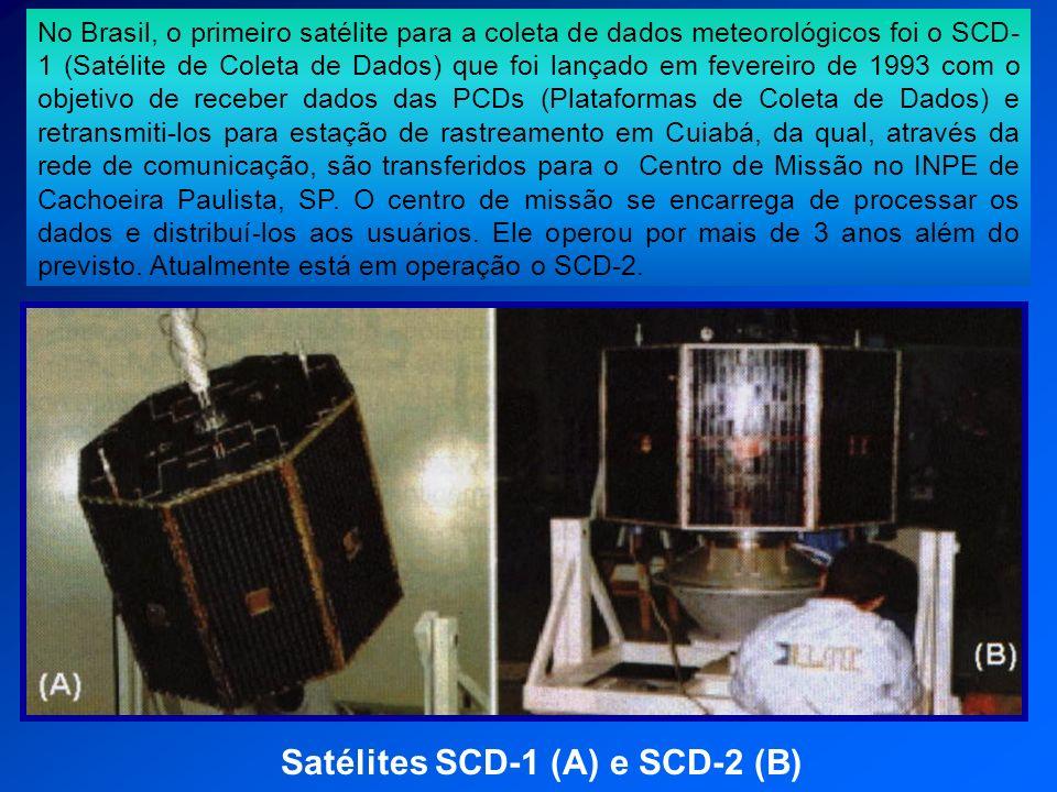 Satélites SCD-1 (A) e SCD-2 (B)