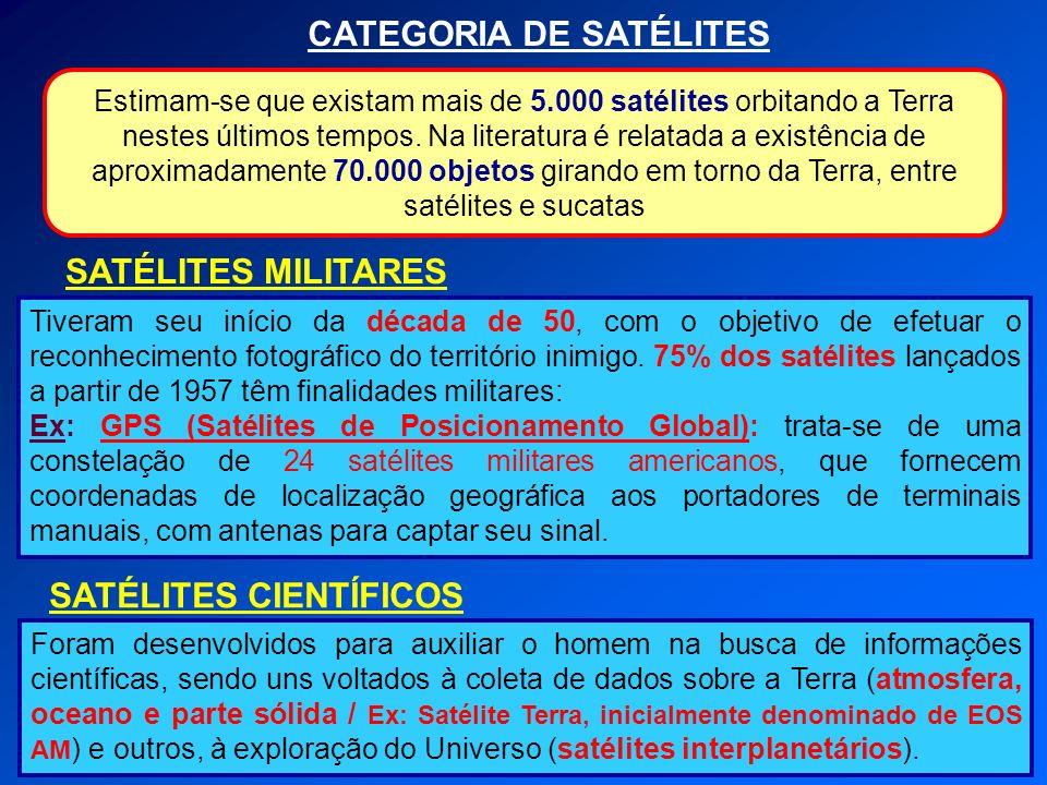 CATEGORIA DE SATÉLITES SATÉLITES CIENTÍFICOS