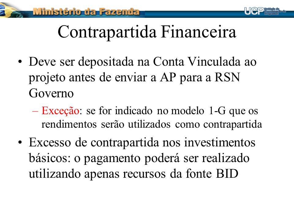 Contrapartida Financeira