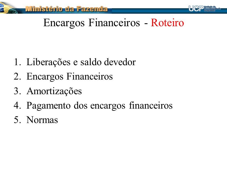 Encargos Financeiros - Roteiro