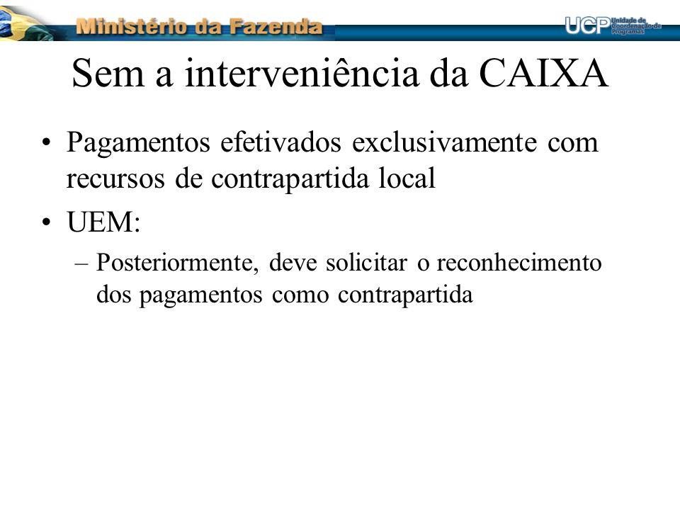 Sem a interveniência da CAIXA