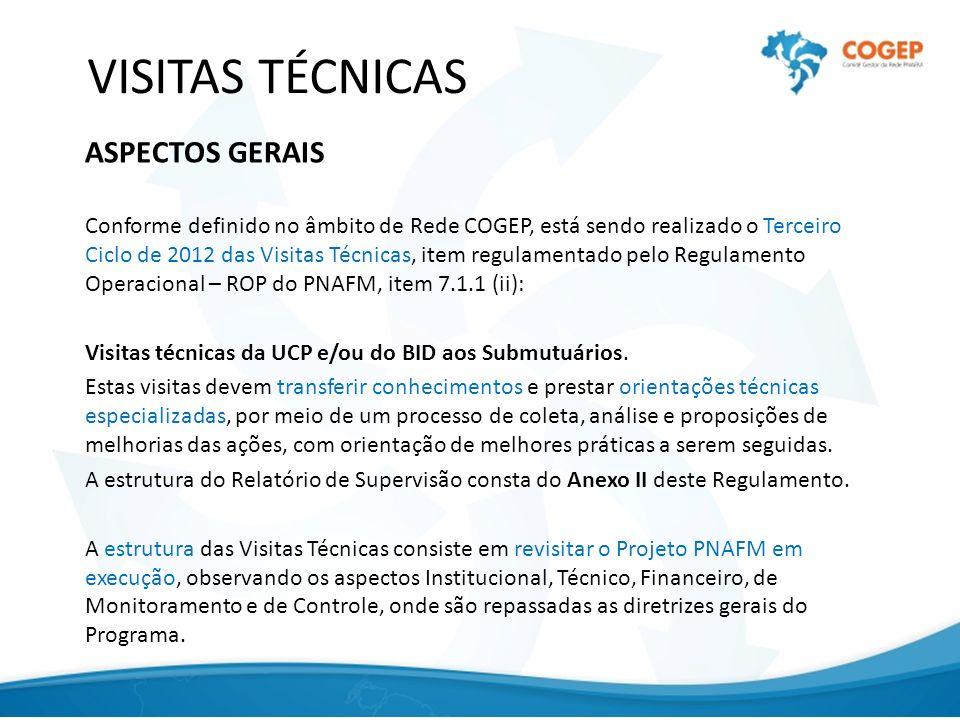 VISITAS TÉCNICAS ASPECTOS GERAIS
