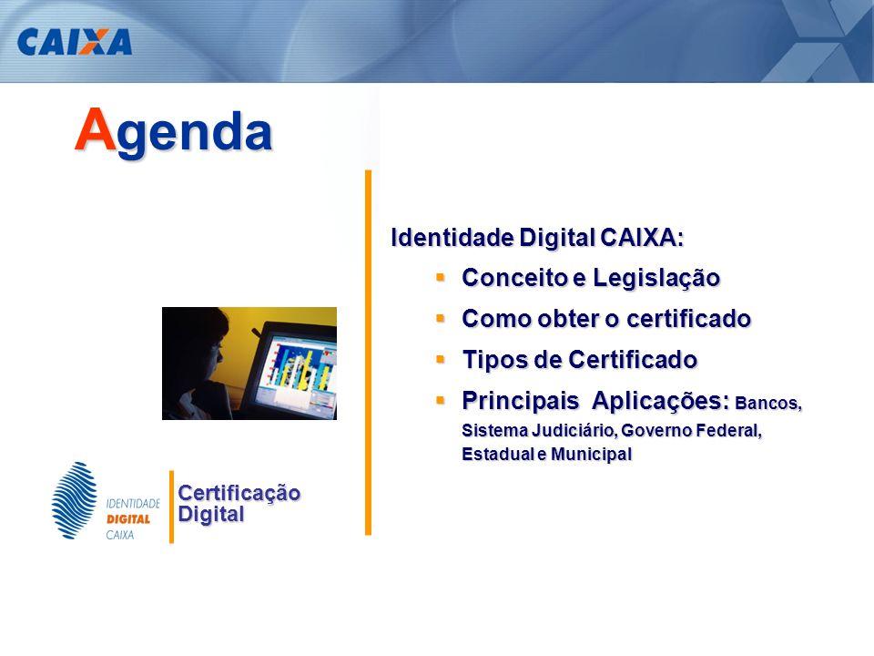 Agenda Identidade Digital CAIXA: Conceito e Legislação