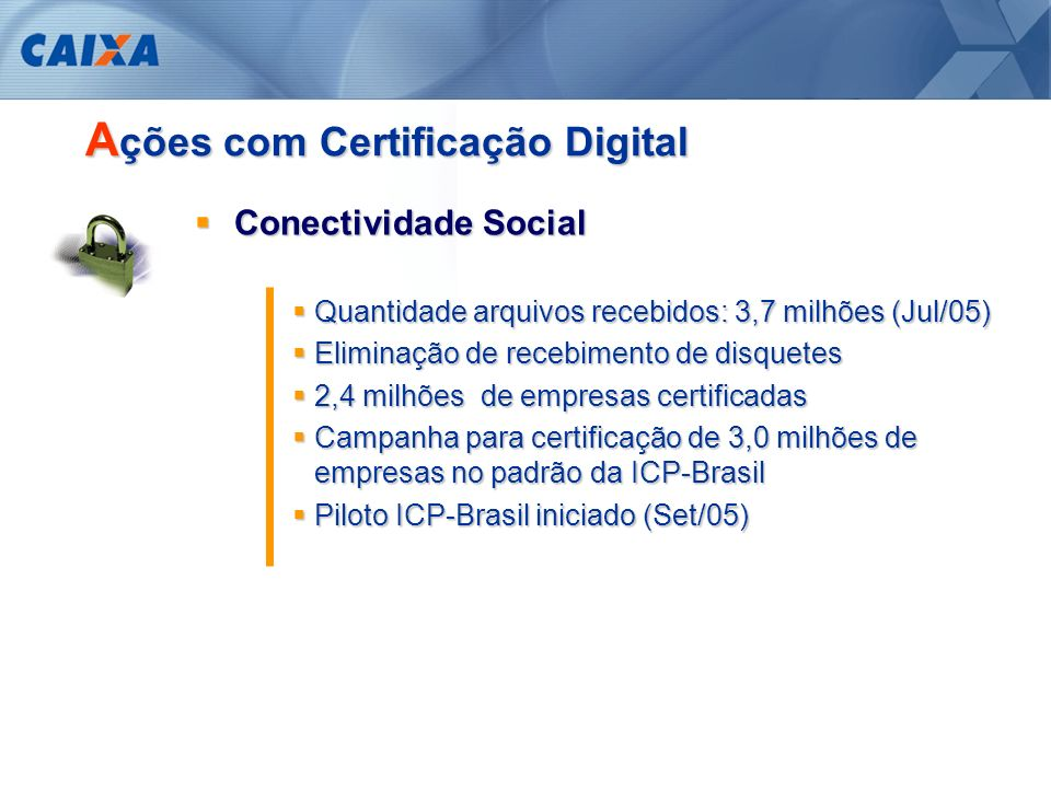Ações com Certificação Digital