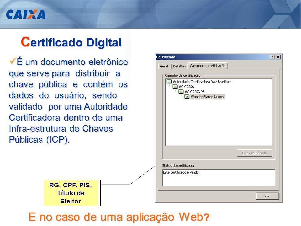 Certificado Digital E no caso de uma aplicação Web