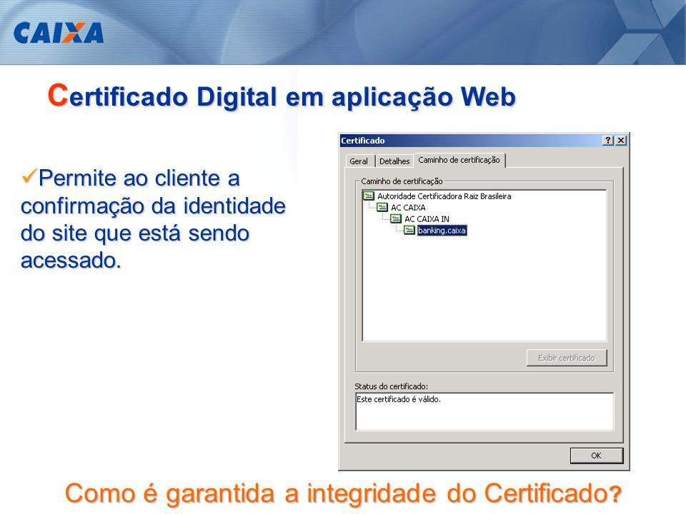 Certificado Digital em aplicação Web