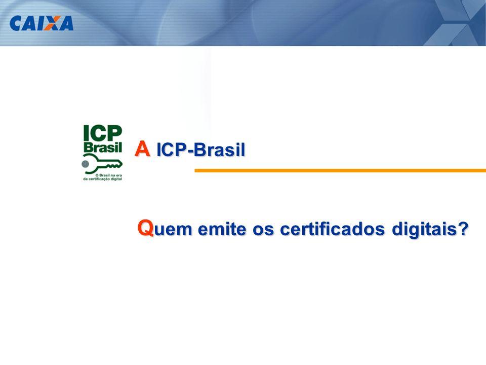 A ICP-Brasil Quem emite os certificados digitais