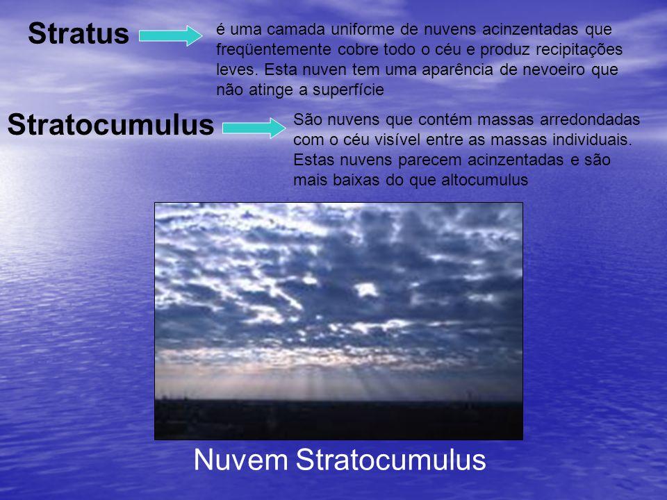 Stratus Stratocumulus Nuvem Stratocumulus