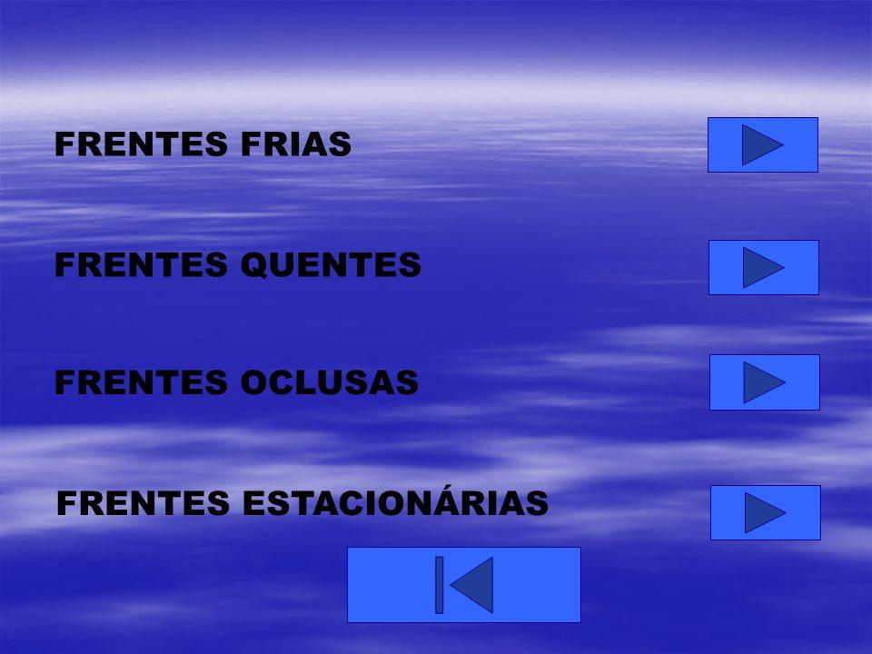 FRENTES FRIAS FRENTES QUENTES FRENTES OCLUSAS FRENTES ESTACIONÁRIAS