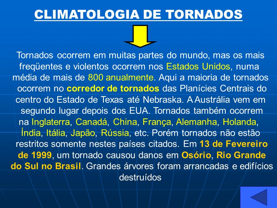 CLIMATOLOGIA DE TORNADOS