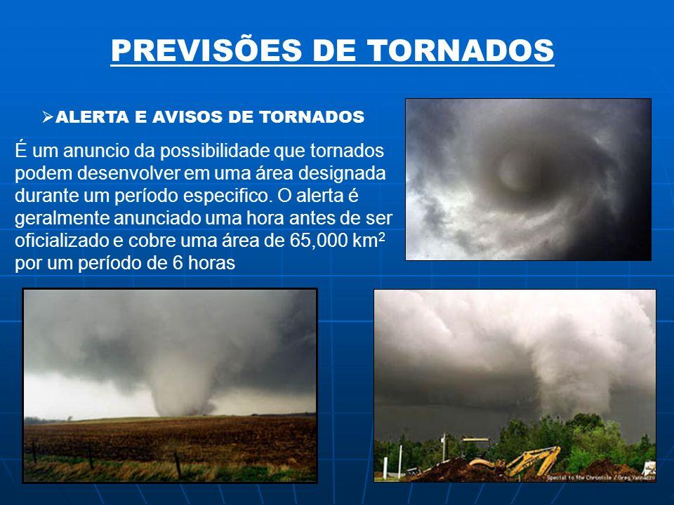PREVISÕES DE TORNADOS É um anuncio da possibilidade que tornados